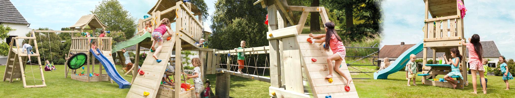 Domača zunanja lesena igrala za na vrt. Vrtne hiške, vrtni tobogani, vrtne gugalnice in stolpi so lahko vaši z ugodnim obročnim financiranjem Leanpay!